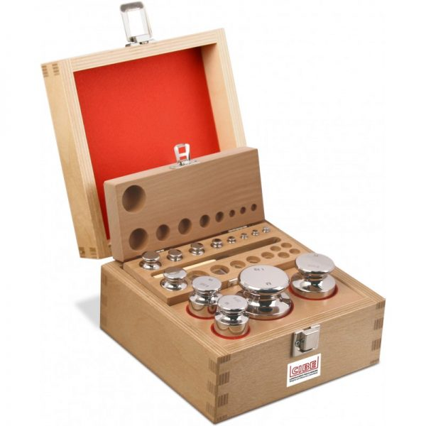 M1 Calibration Weight Set in Wooden Box 1g to 1Kg