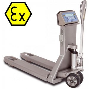 TPWX2GDI Series ATEX Hazardous Area Stainless Steel Pallet Truck Scale