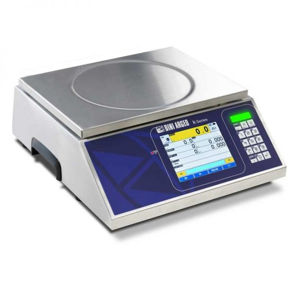 KST Series Stainless Steel Bench Scales with Touchscreen Display